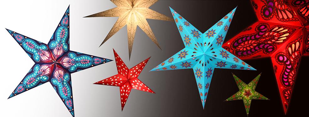 Papieren kerststerren in waanzinnige kleuren en uitvoeringen!